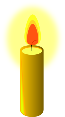 free library Beeswax candle i royalty. Candles clipart cross.