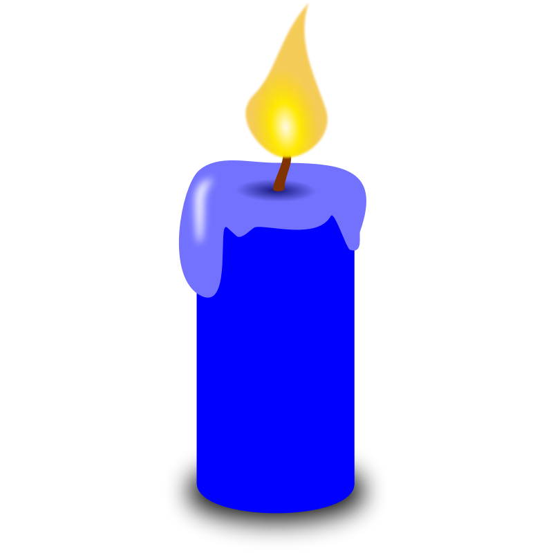 png free download Melting Candle Clipart blue candle