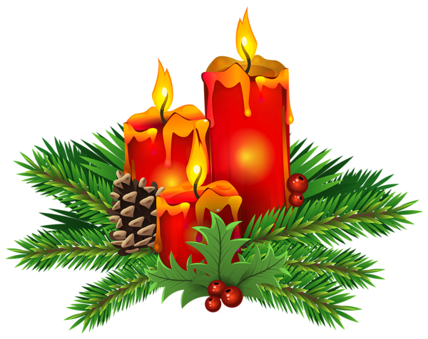 graphic freeuse library Candles clipart old fashioned. Christmas png clip art.