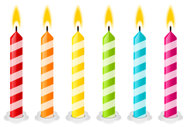 picture stock Birthday png vector image. Candles clipart seven.