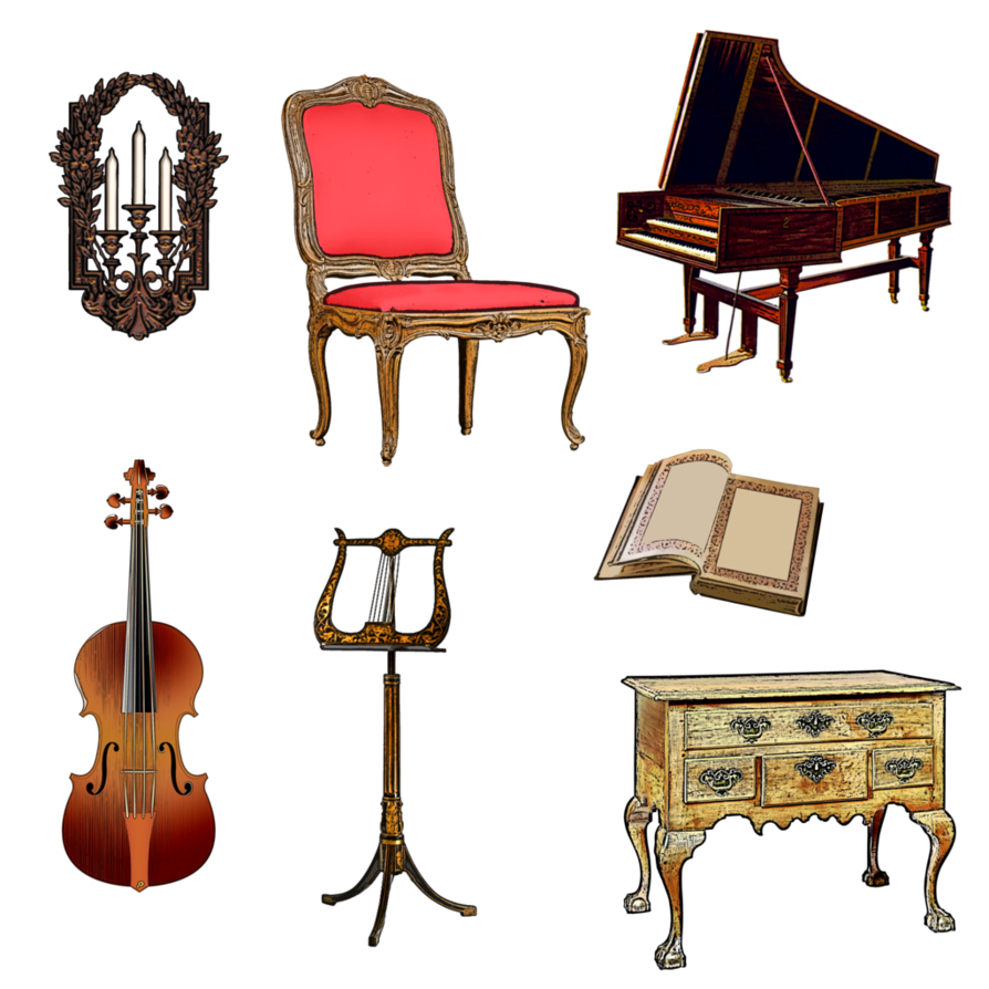 png stock Candles clipart victorian. Music room by lady.