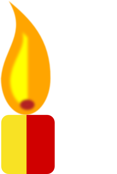 svg stock Clip art at clker. Candles clipart yellow candle.