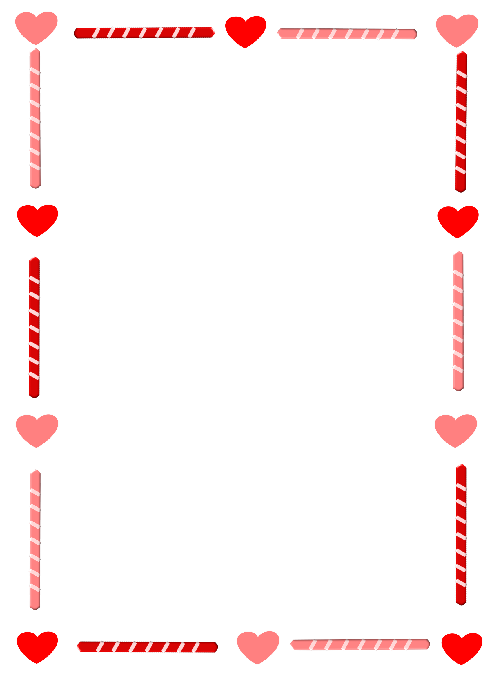 clip art freeuse download Heart and candy border. Valentine borders clipart