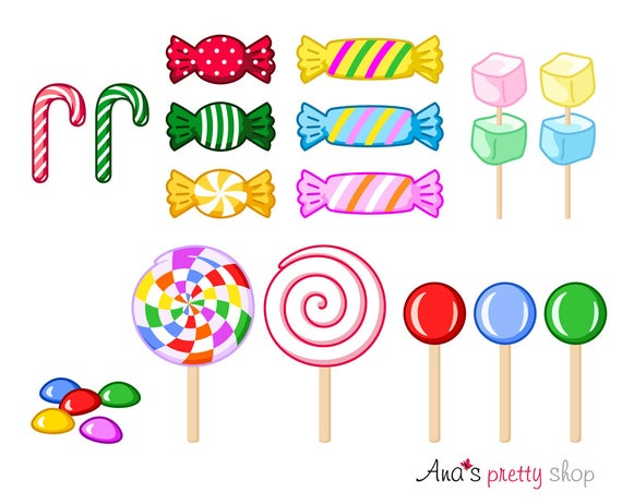clipart transparent download Sweet lollipops marshmallow bonbons. Candy clipart.