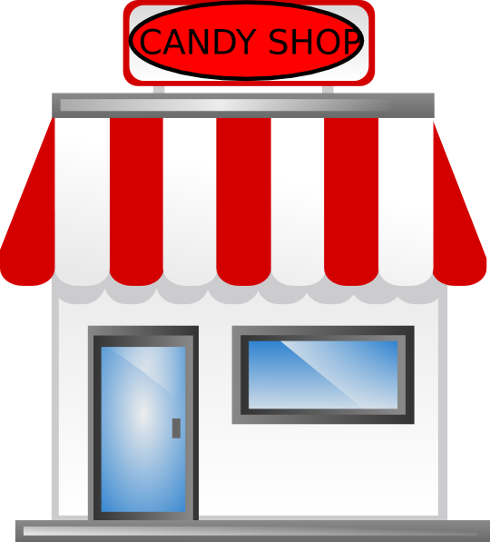 clipart royalty free Candy Shop Front Clip Art at Clker