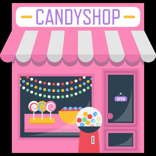 banner transparent download Sugar shop food sweet. Vector candy store