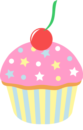 png royalty free stock Cupcake strawberry sprinkles cherry. Muffins clipart january.