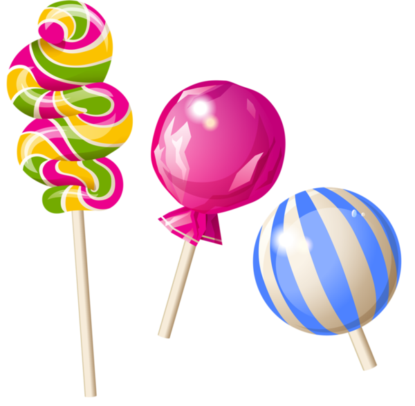 vector royalty free stock lollipop clipart pink #80590694