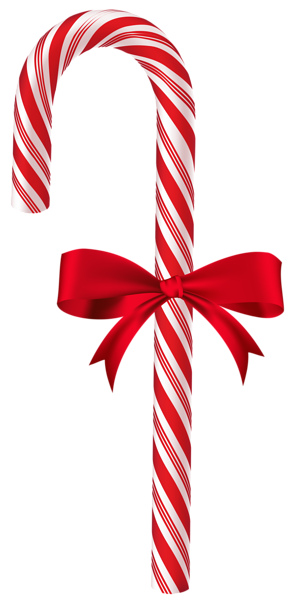 png royalty free library Candy with red bow. Cane clipart colored.