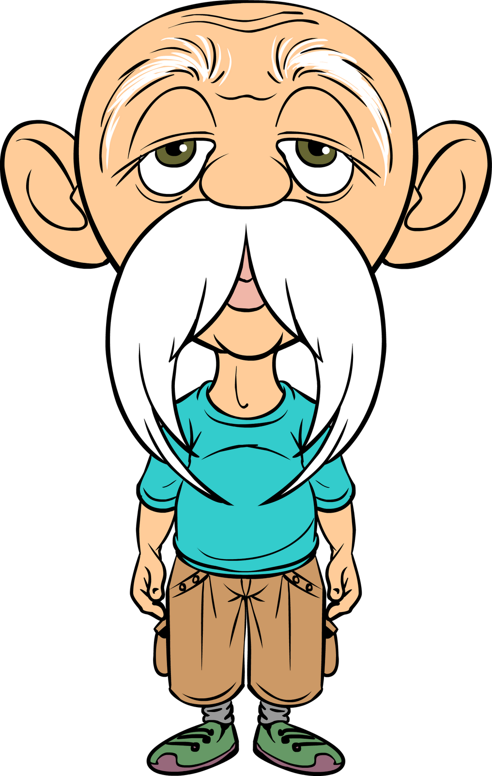 clip art free library Grandma clipart brown. Old man cartoon szukaj