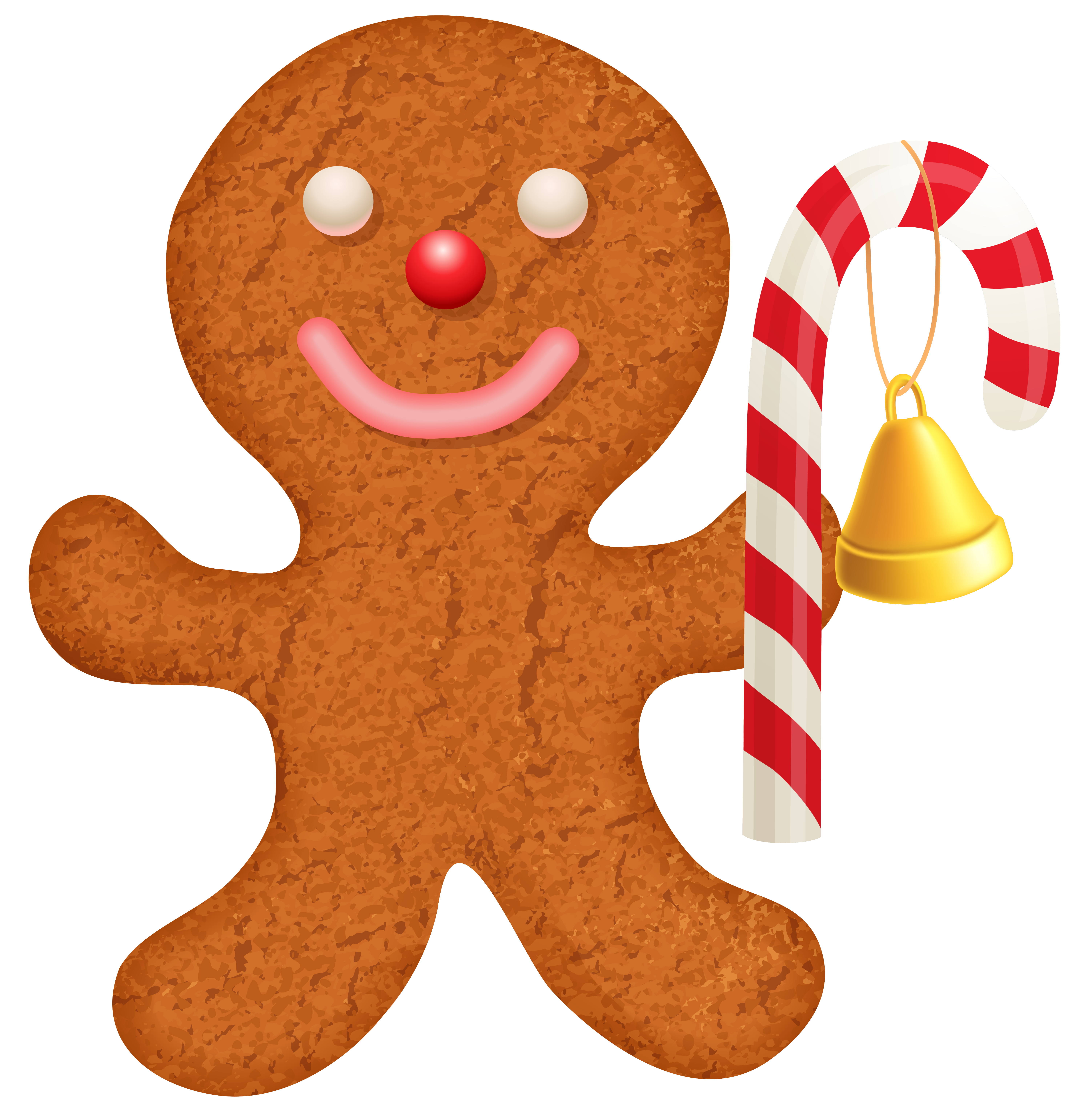 banner royalty free library Ornament with png clip. Cane clipart gingerbread candy.