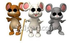 image black and white stock Blind mice clip art. Cane clipart three.