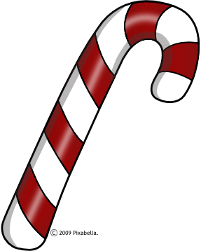 vector transparent stock Cane clipart. Simple candy clip art.