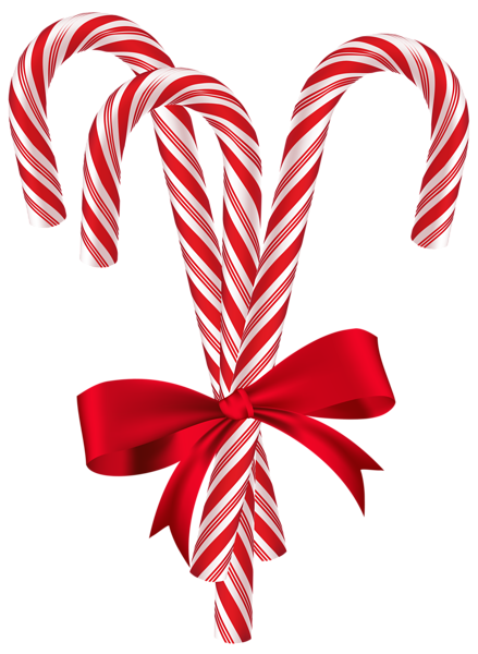 stock Candy with red bow. Canes clipart