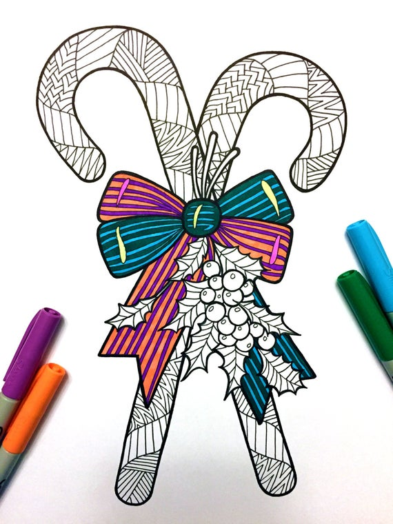 picture transparent download Canes clipart zentangle. Candy pdf coloring page.