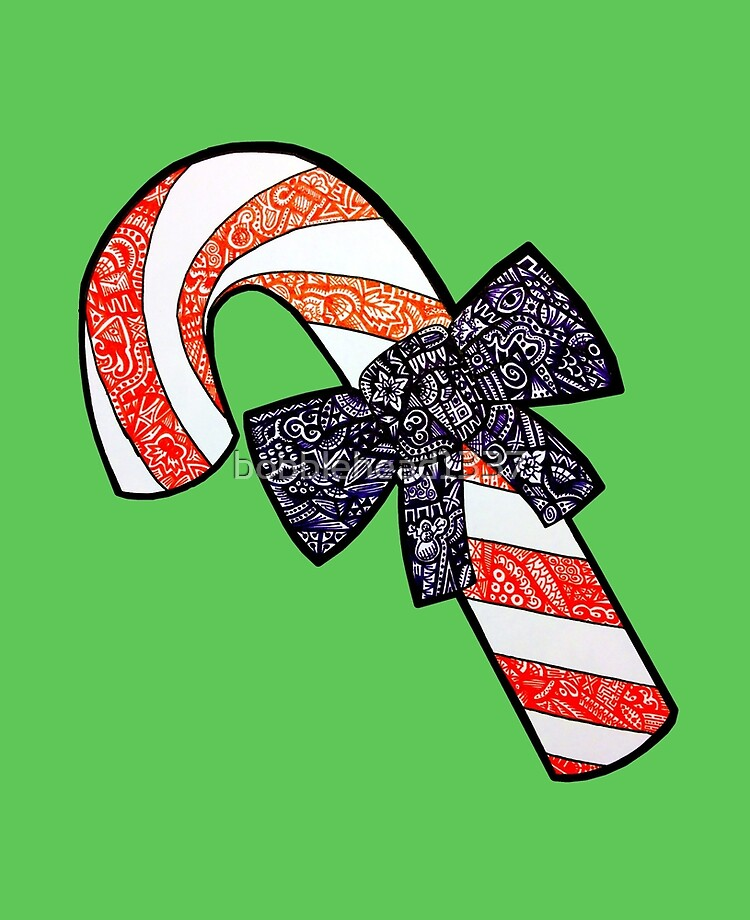 picture royalty free stock Candy cane ipad case. Canes clipart zentangle.