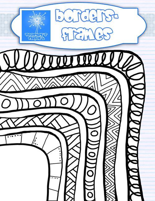 picture freeuse stock Wooden doodle borders art. Canes clipart zentangle.