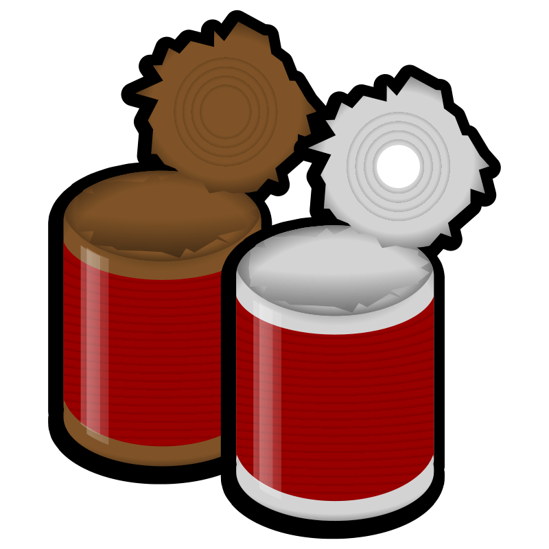 clipart black and white library Food cool gallery of. Canned clipart