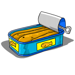clip library stock Sardines icon png image. Canned clipart canned fish.