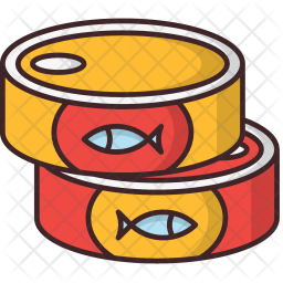 banner free stock Canned clipart canned fish. Icon food drinks icons.