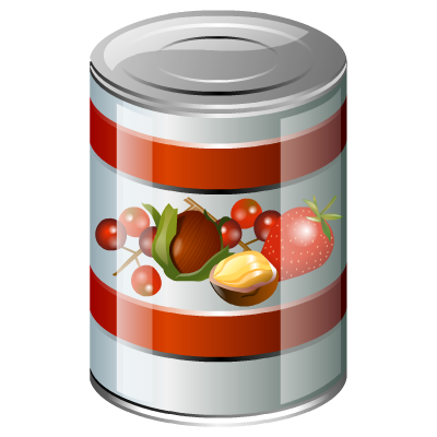 jpg black and white Canned clipart canned meat. Brilliant by iconshock food.