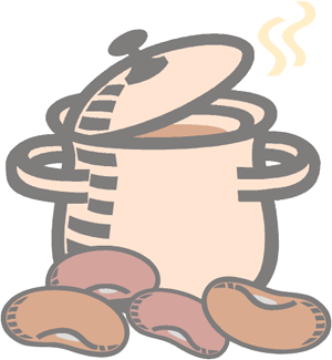 transparent Cooking guide for dried. Canned clipart cooked bean