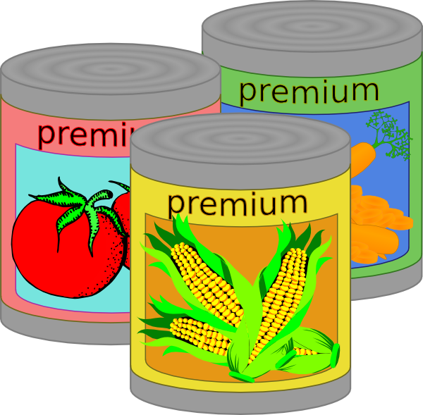 vector black and white stock Goods clip art at. Canned clipart food drive.
