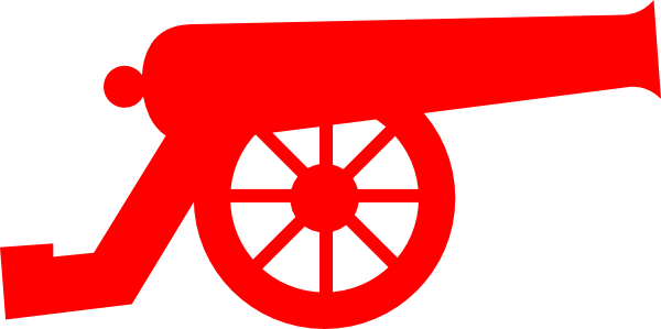 clip art freeuse Cannon clipart. Red clip art at.