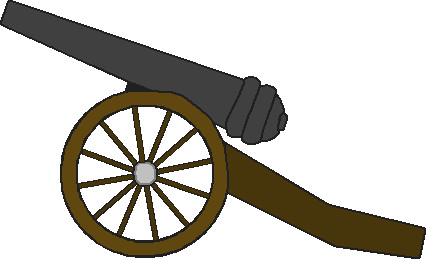jpg free stock Kisekae prop by zebuta. Cannon clipart civil war cannon