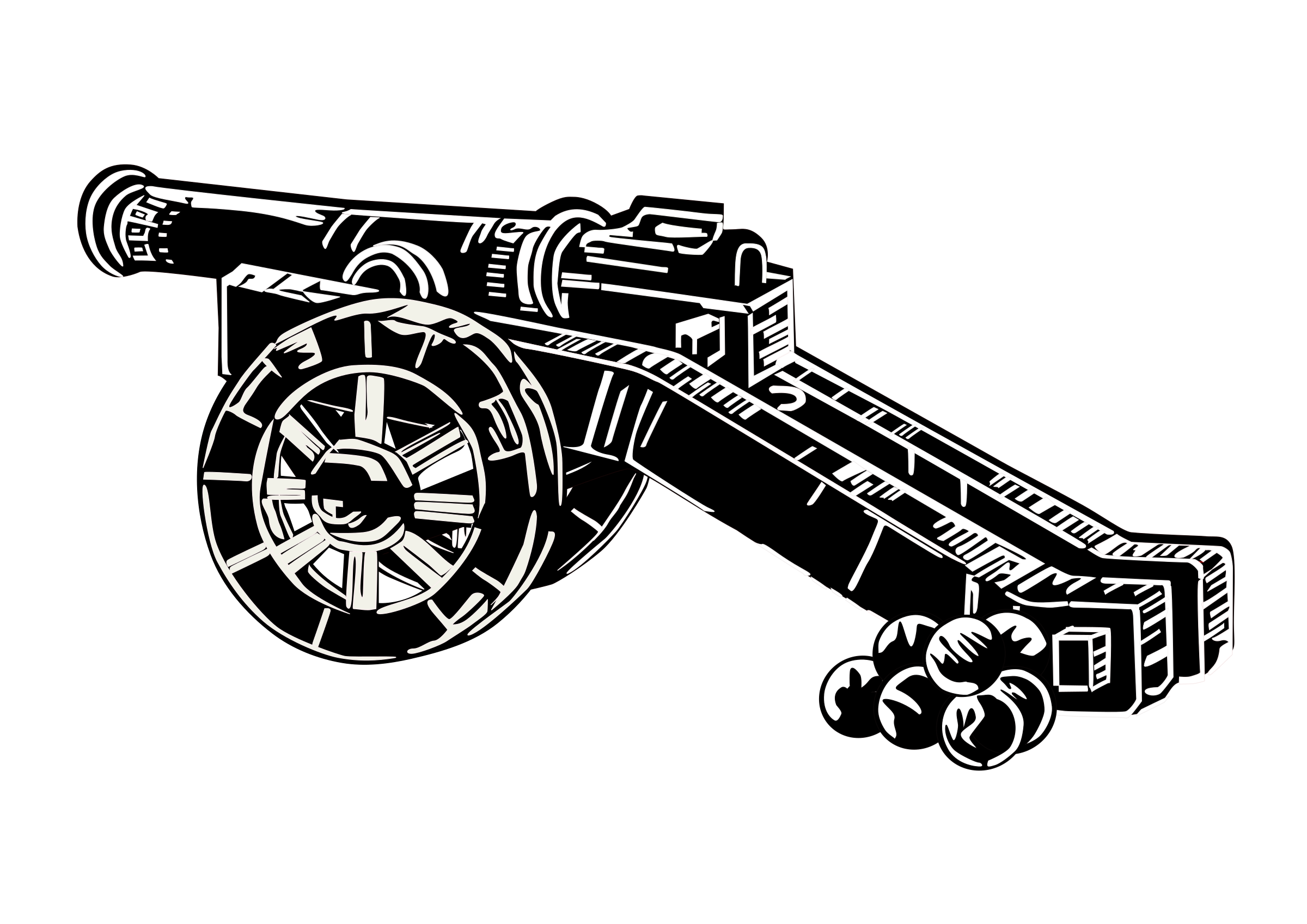 vector library download Vector cannon black and white. Clipart medieval big image