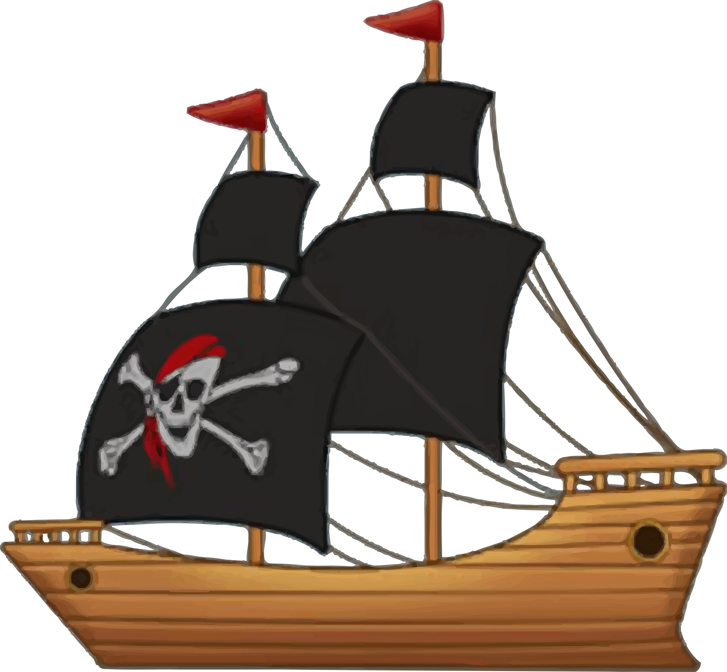 clip art black and white stock Cannon clipart ship. Pirate by firkin from.