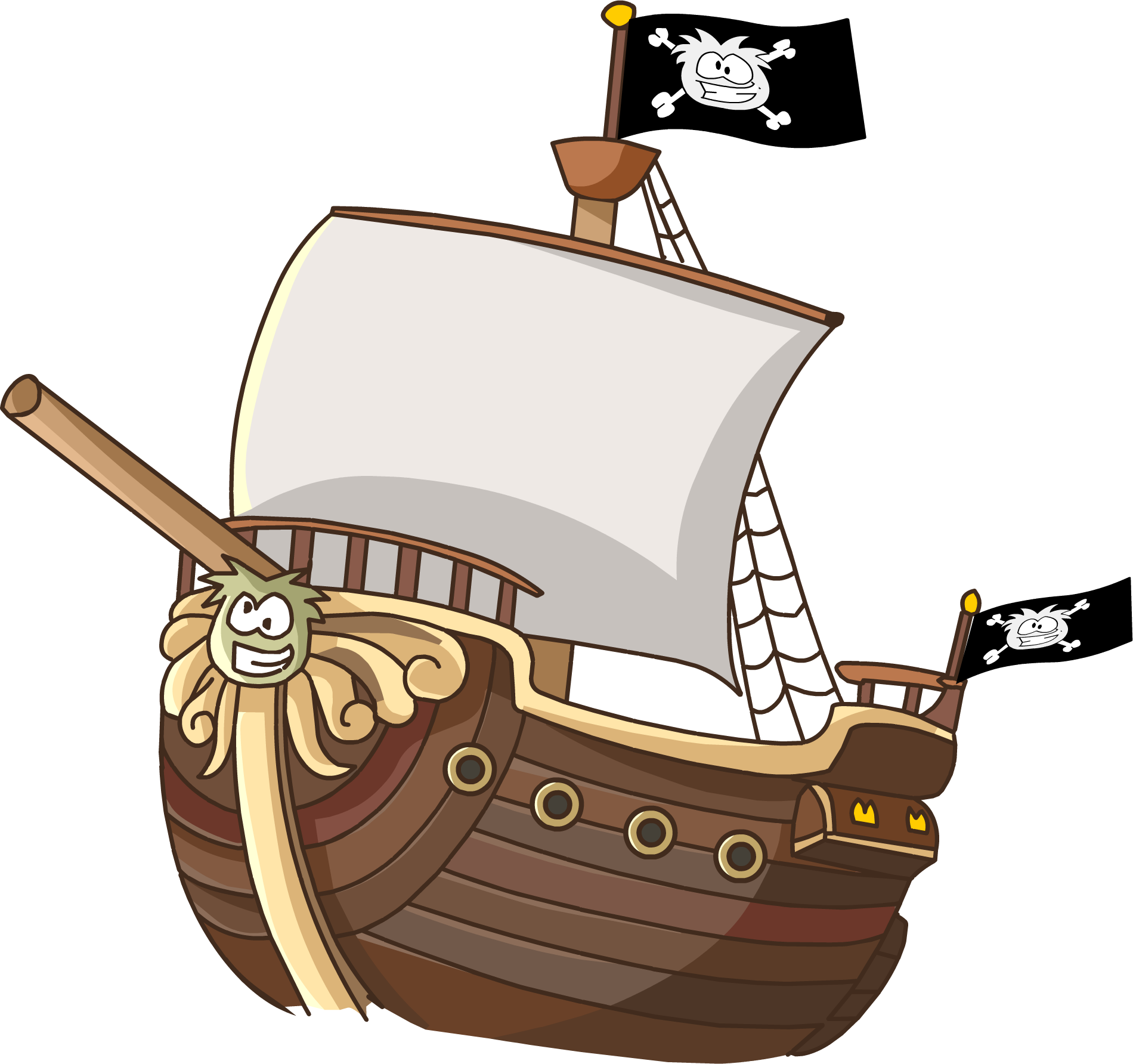 png freeuse stock The migrator club penguin. Cannon clipart ship.