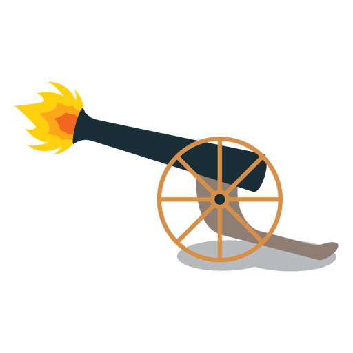 clipart free Vector cannon shooting. Shot artillery fire transparent