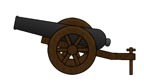 clip Collection of free cannons. Vector cannon medieval