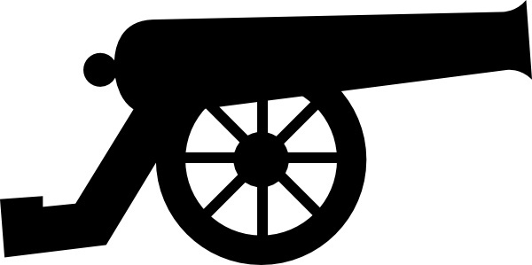 vector black and white stock Free download for . Vector cannon pirate