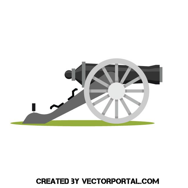 clipart free library Vector cannon artillery. Pin on military and