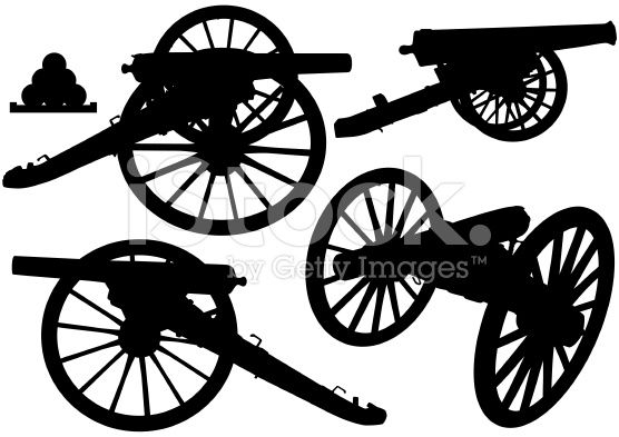 clip art transparent Vector cannon silhouette. Silhouettes royalty free stock