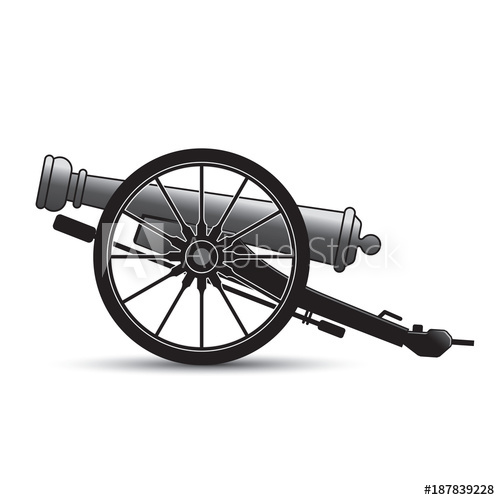 clip library stock Isolated antique buy this. Vector cannon cartoon