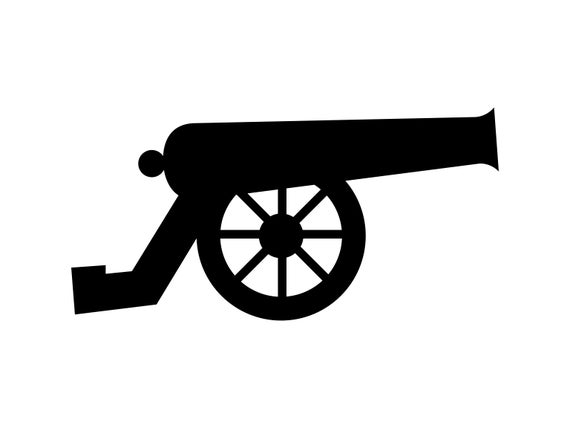 png transparent download Vector cannon silhouette. Svg military war cut