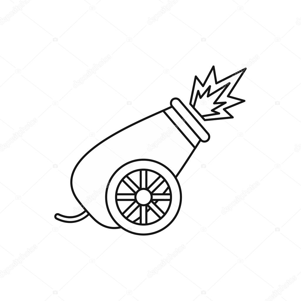 clipart freeuse library Vector cannon easy draw. Drawing at paintingvalley com