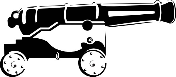 vector black and white stock Vector cannon pirate. Free download for