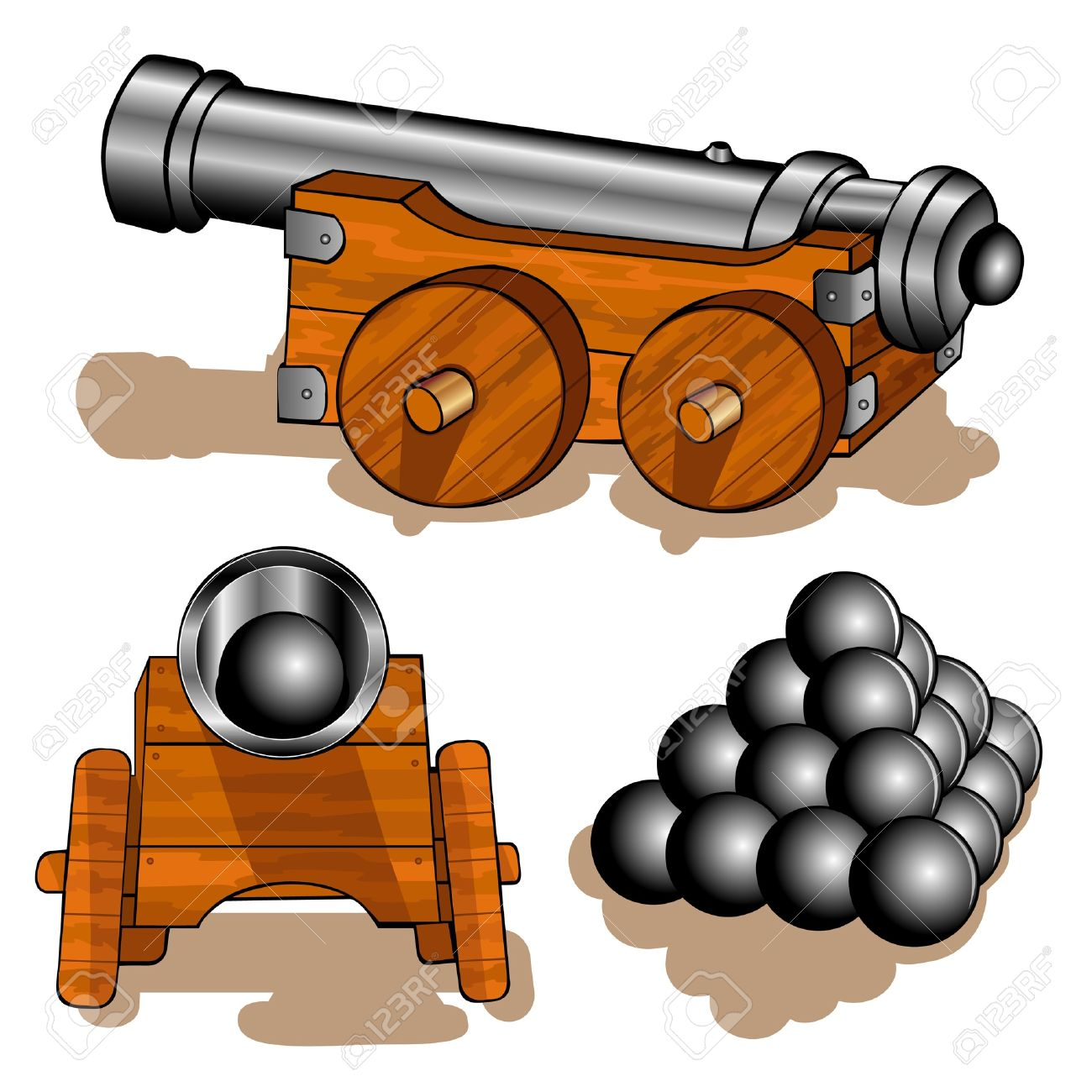 clipart free library Collection of clipart free. Vector cannon pirate