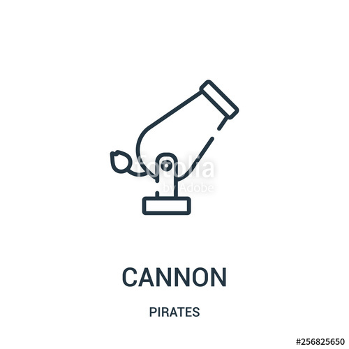 clipart freeuse library Vector cannon pirate. Icon from pirates collection