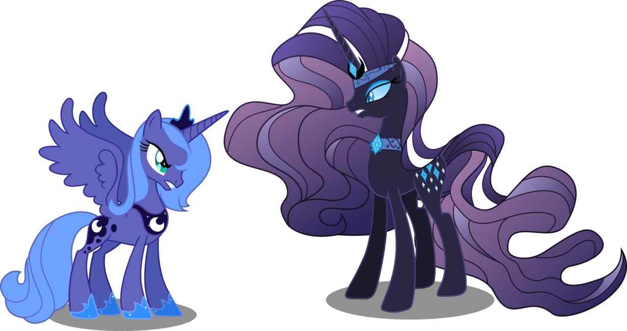 svg free library Nightmare vs luna by. Vector cannon rarity