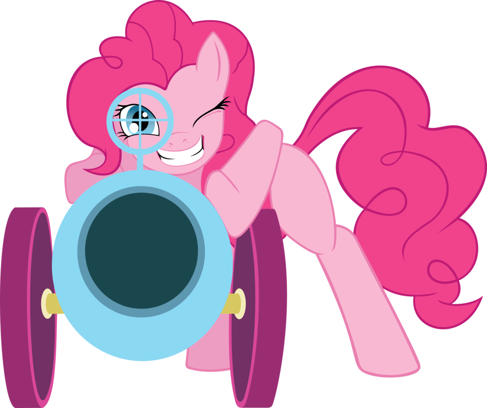 vector black and white library Vector cannon traditional. Pinkie pie party svg