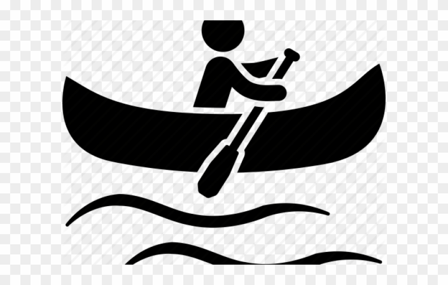 picture library library Kayak canoeing icon png. Canoe clipart.