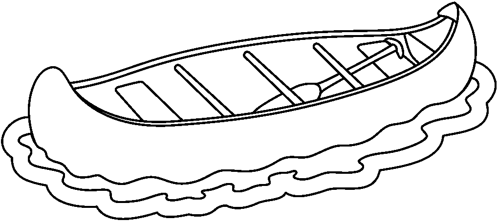 clipart freeuse stock Canoe clipart black and white. Free canoeing cliparts download.