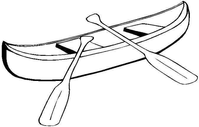 image free Station . Canoe clipart black and white.