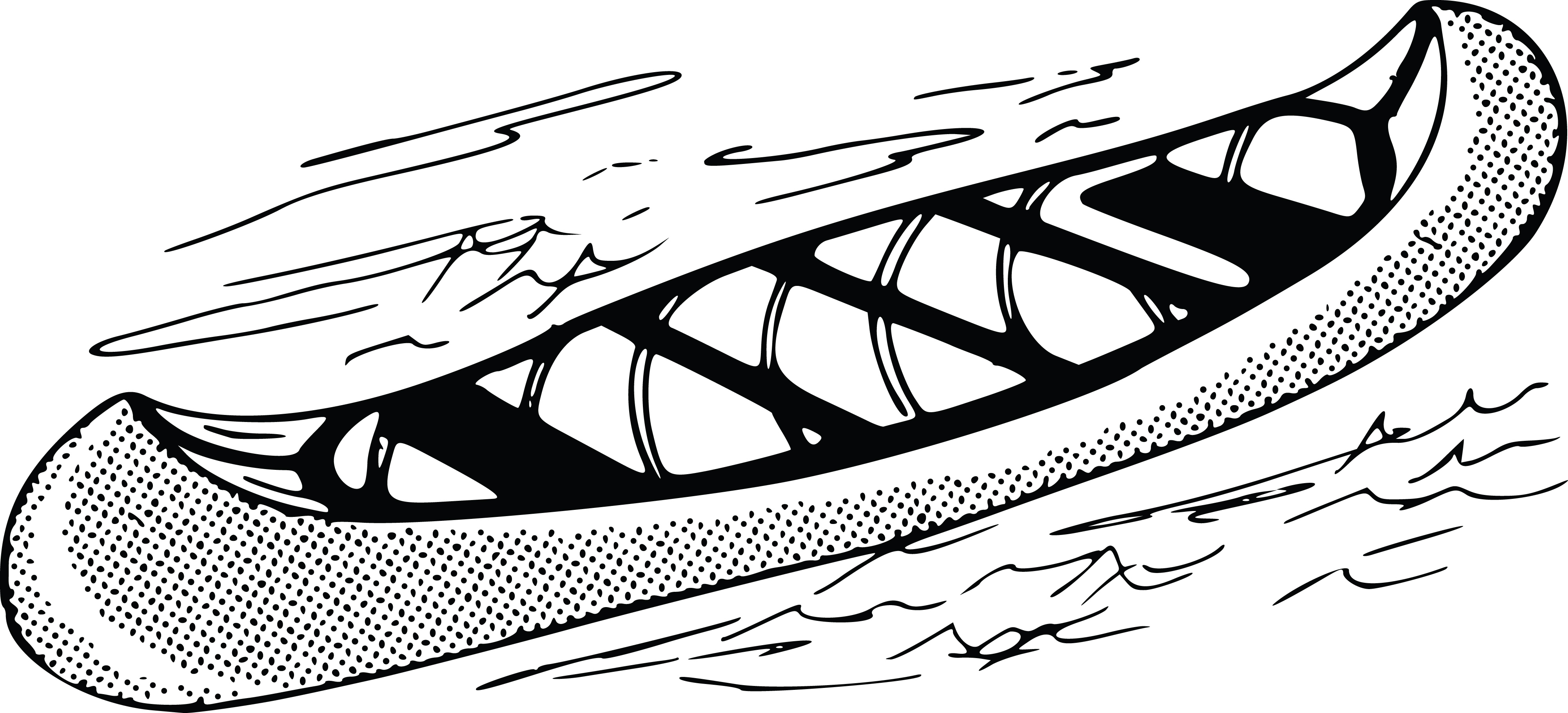 jpg library download Collection of free bleck. Canoe clipart black and white.