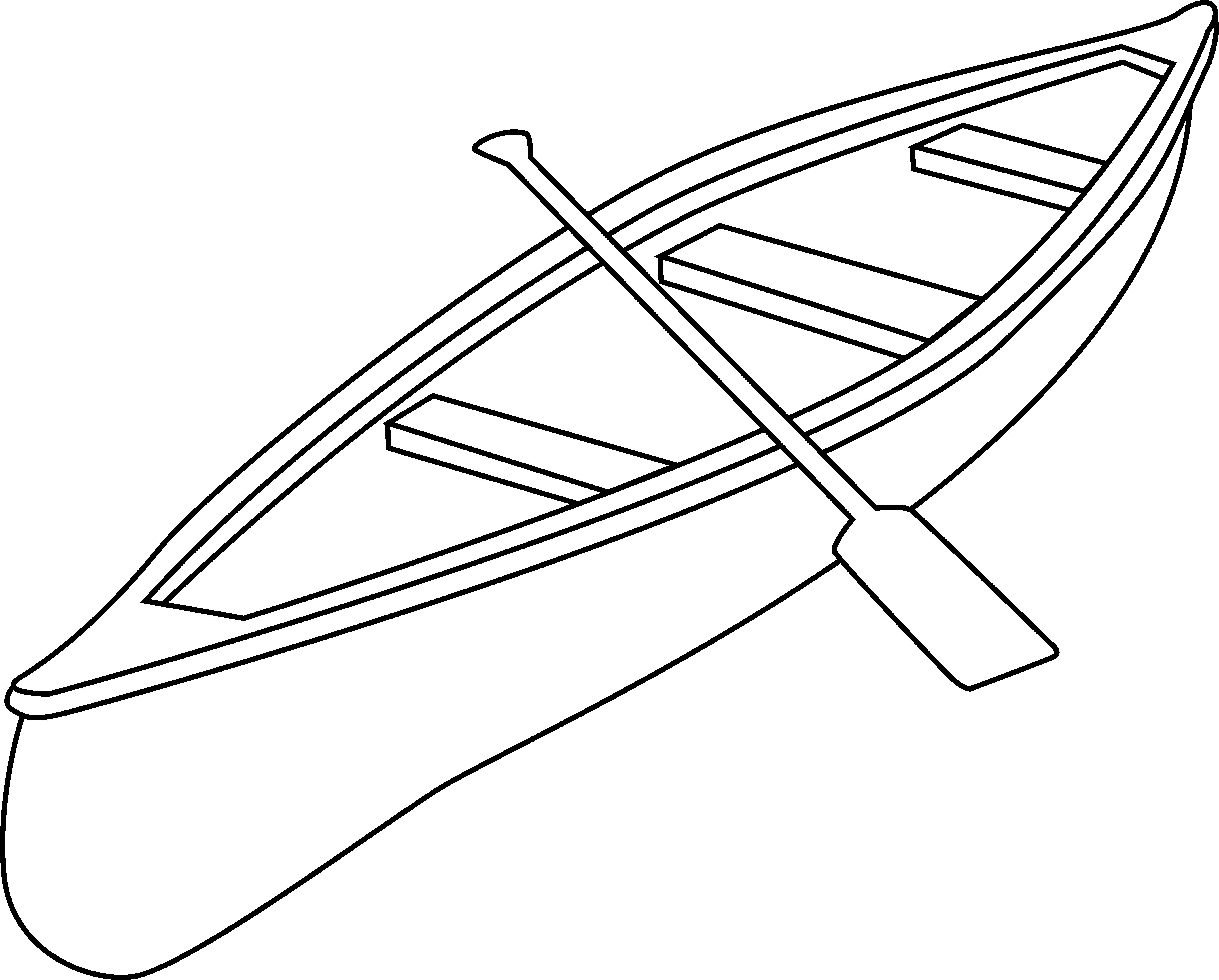 clip art freeuse Free clip art outline. Canoe clipart black and white.